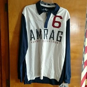 Men's (XL) rugby style shirt. NWT